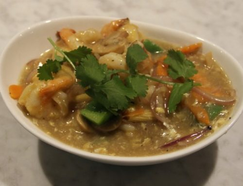 Our famous green duck curry